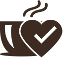 Coffee cup and heart icon