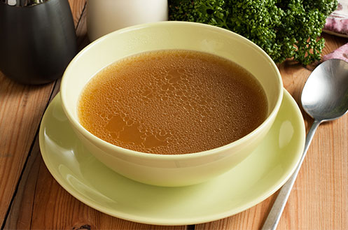 Cup of beef broth