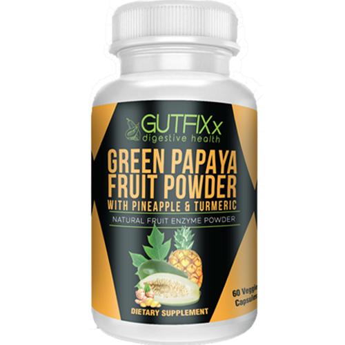 Gutfixx Digestive Health Green Papaya Supplement Capsules w/ Pineapple & Turmeric