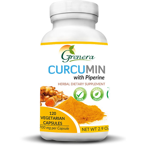 Curcumin w/ Piperine Supplement Capsules (120 caps)