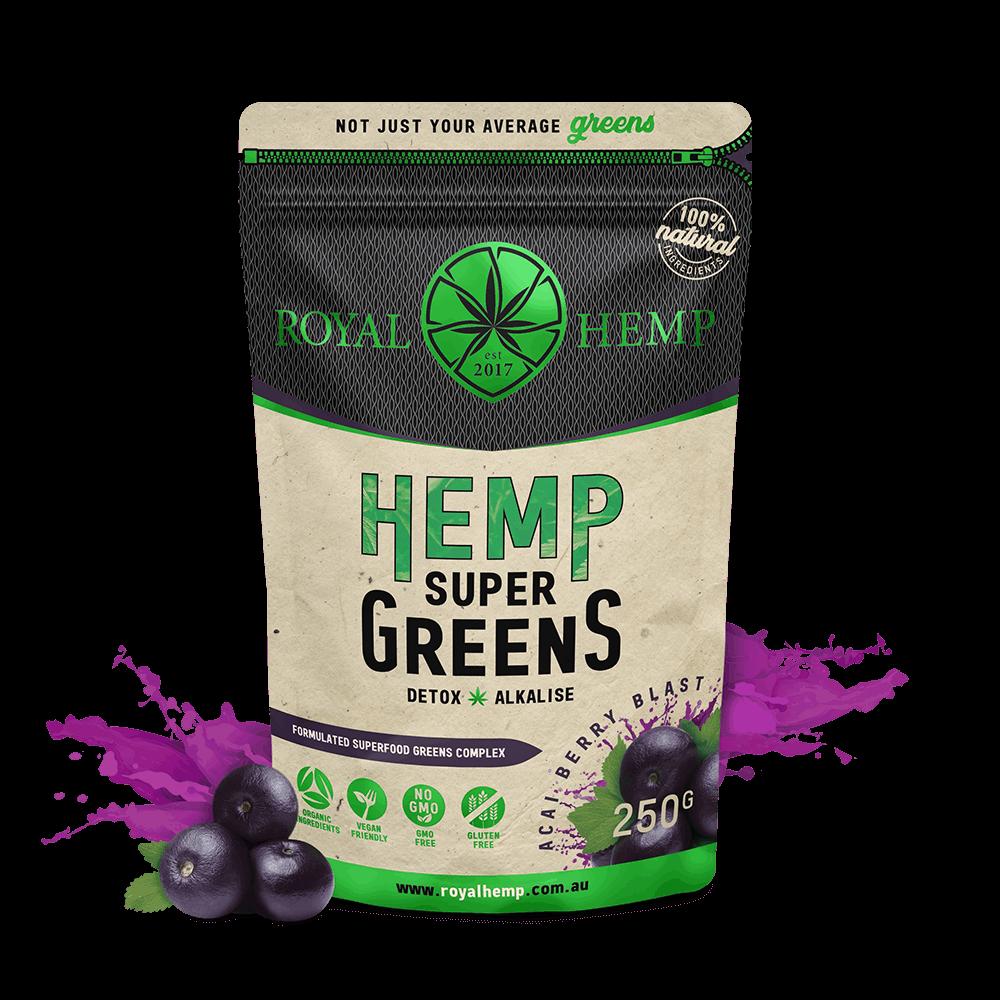 Hemp Super Greens – Acai Berry Blast 250g
