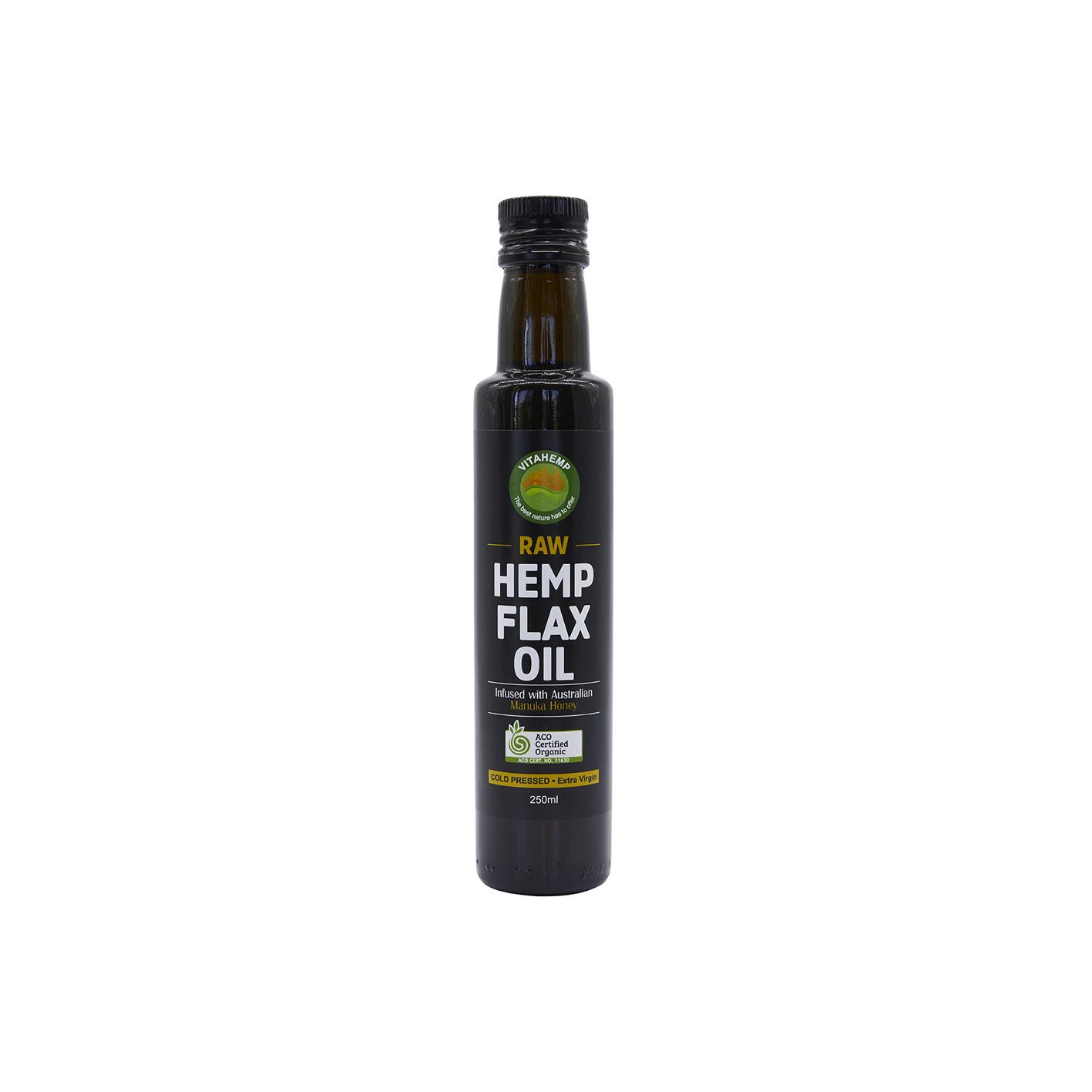 Certfied Organic Hemp & Flax Seed/Manuka Honey Oil 250ml