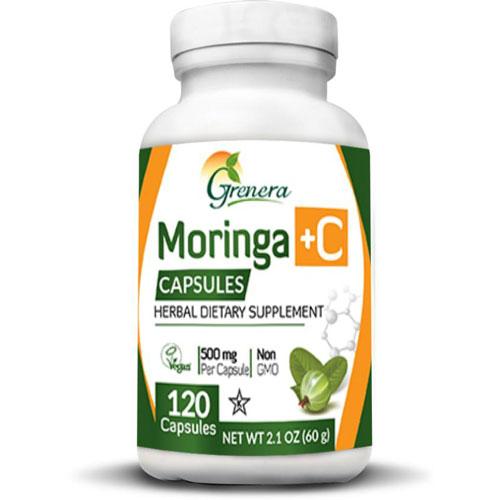 Moringa +C w/ Amla Herbal Capsules (120 caps)