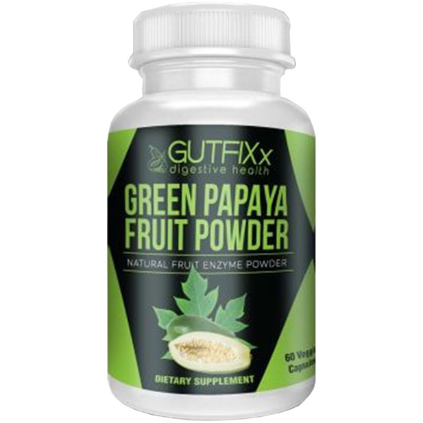 Green Papaya Powder Supplement Capsules
