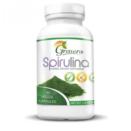 Spirulina Herbal Dietary supplements 120 Veggies capsules