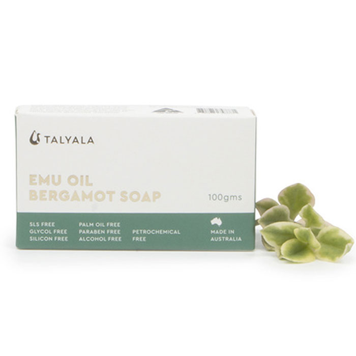 Talyala Emu Oil Infused Soap (Bergamot or Manuka Honey 100g)