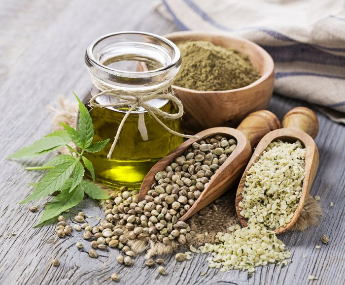 Hemp oil hemp seeds hemp powder