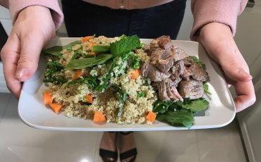Mint and Basil Quinoa Salad with beef
