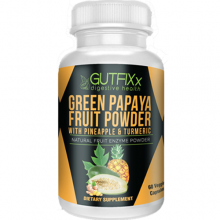 Gutfixx Digestive Health Green Papaya Supplement Capsules w/ Pineapple & Turmeric