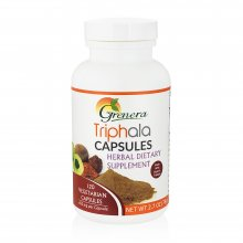 Bottle of Triphala dietary supplements