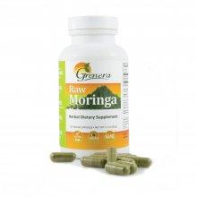 Raw Moringa Herbal Dietary Supplement Capsules (120 caps)